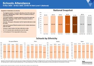 Attendance COVID-19: Schools 16-20 Nov 2020 [PDF 536kB]